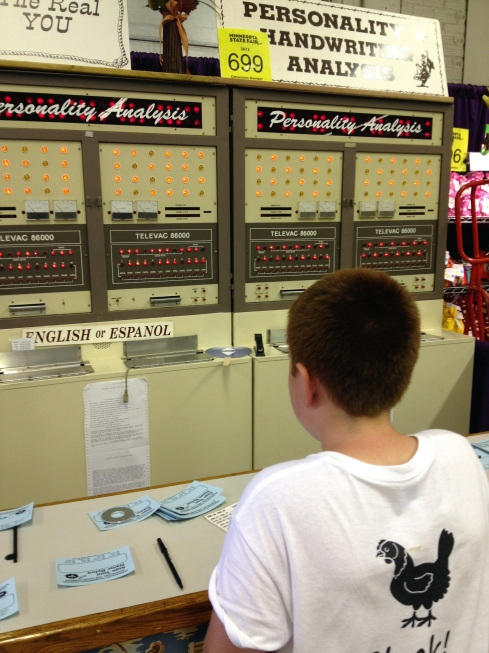 Minnesota State Fair Fun - Handwriting Analysis, a Classic!  |  via myothermoreexcitingself.wordpress.com