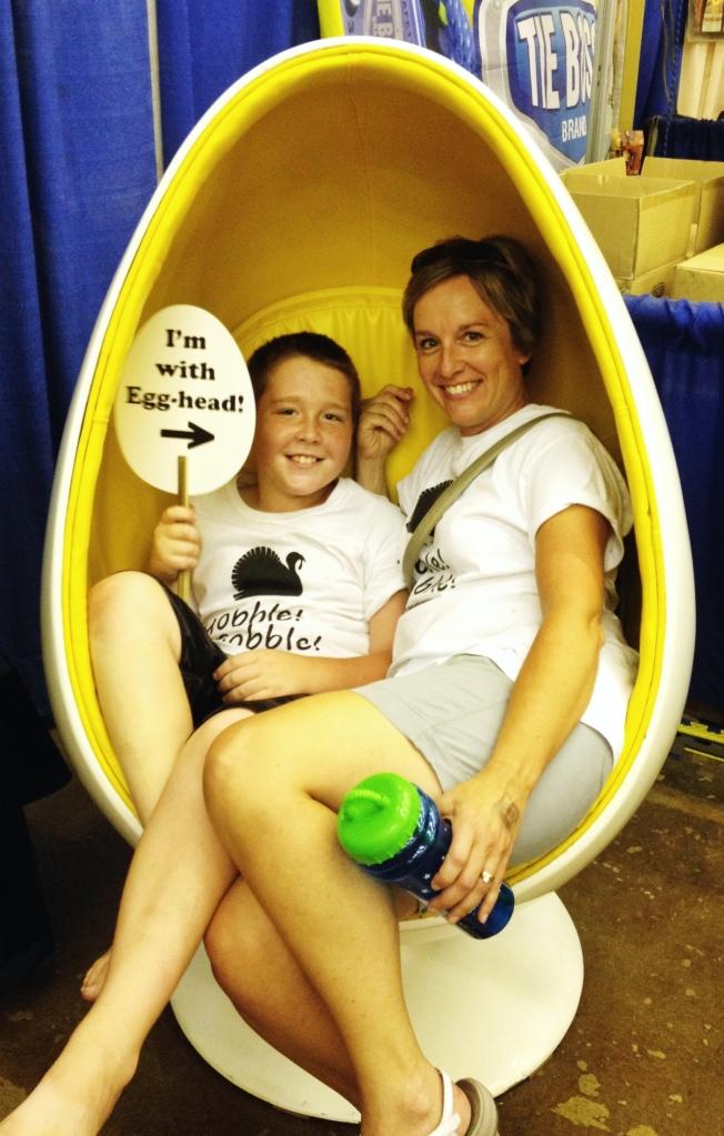 Minnesota State Fair Fun - The Egg Chair   via myothermoreexcitingself.wordpress.com