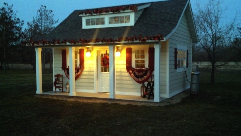 Garden shed - turned turkey barn for Minnesota Presidential Flock 2013 | via myothermoreexcitingself.wordpress.com