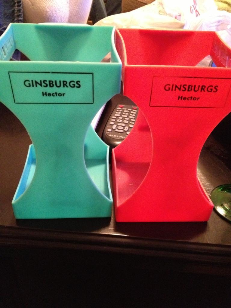 Vintage plastic milk holder from Ginsburg's Super Valu   via MyOtherMoreExcitingSelf.wordpress.com
