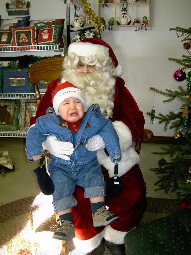 1st visit with Santa   via MyOtherMoreExcitingSelf.wordpress.com