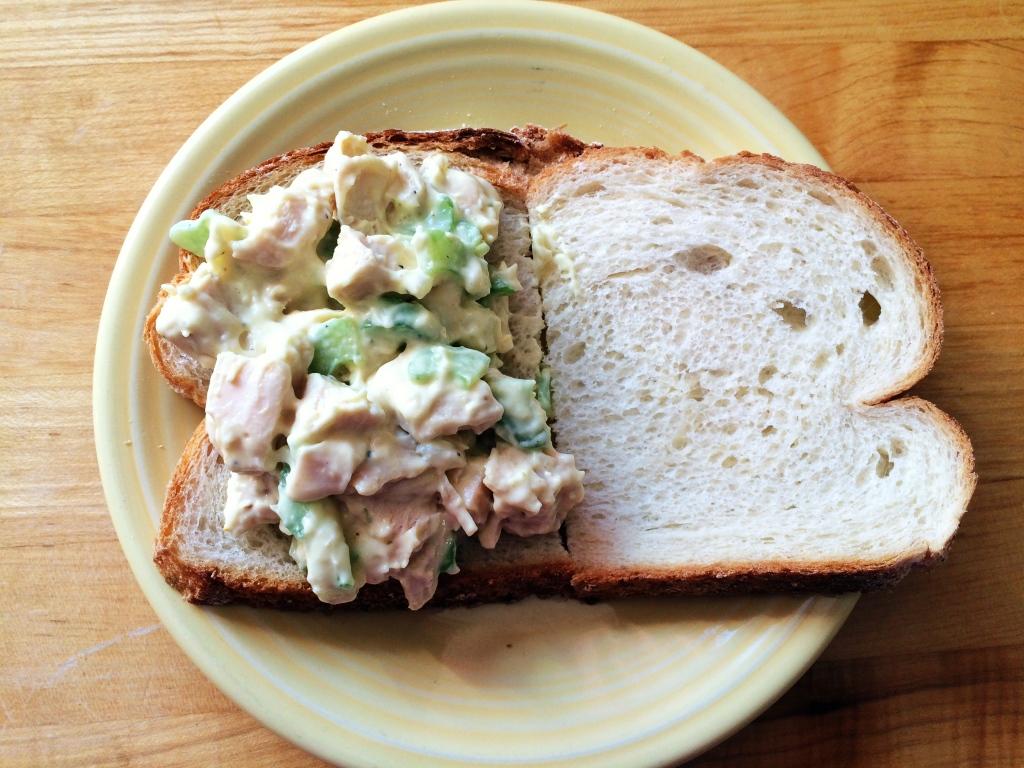 Turkey Salad Sandwiches   via MyOtherMoreExcitingSelf.wordpress.com  #SwitchToTurkey #JennieO #EverydayTurkey #Turkeyforthewin