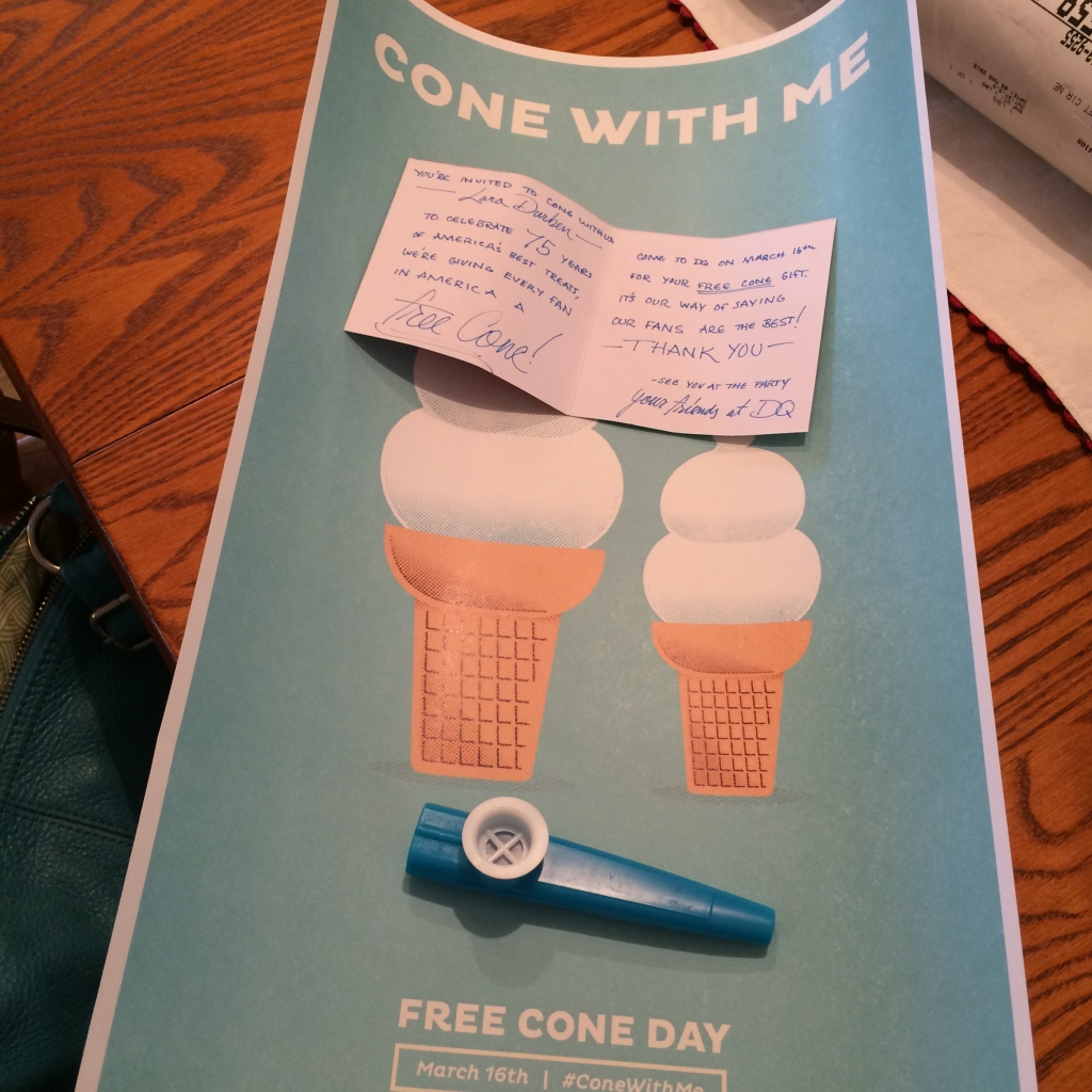 #Cone with Me - #DairyQueen via MyOtherMoreExcitingSelf.wordpress.com