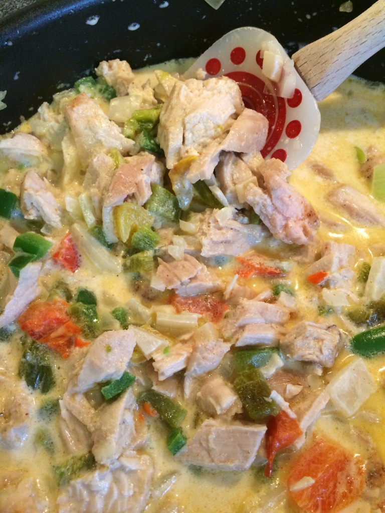 Turkey Enchiladas (Adaptation of The Pioneer Woman's recipe for chicken enchiladas) | via MyOtherMoreExcitingSelf.wordpress.com #SwitchToTurkey #JennieO #TurkeyEveryday