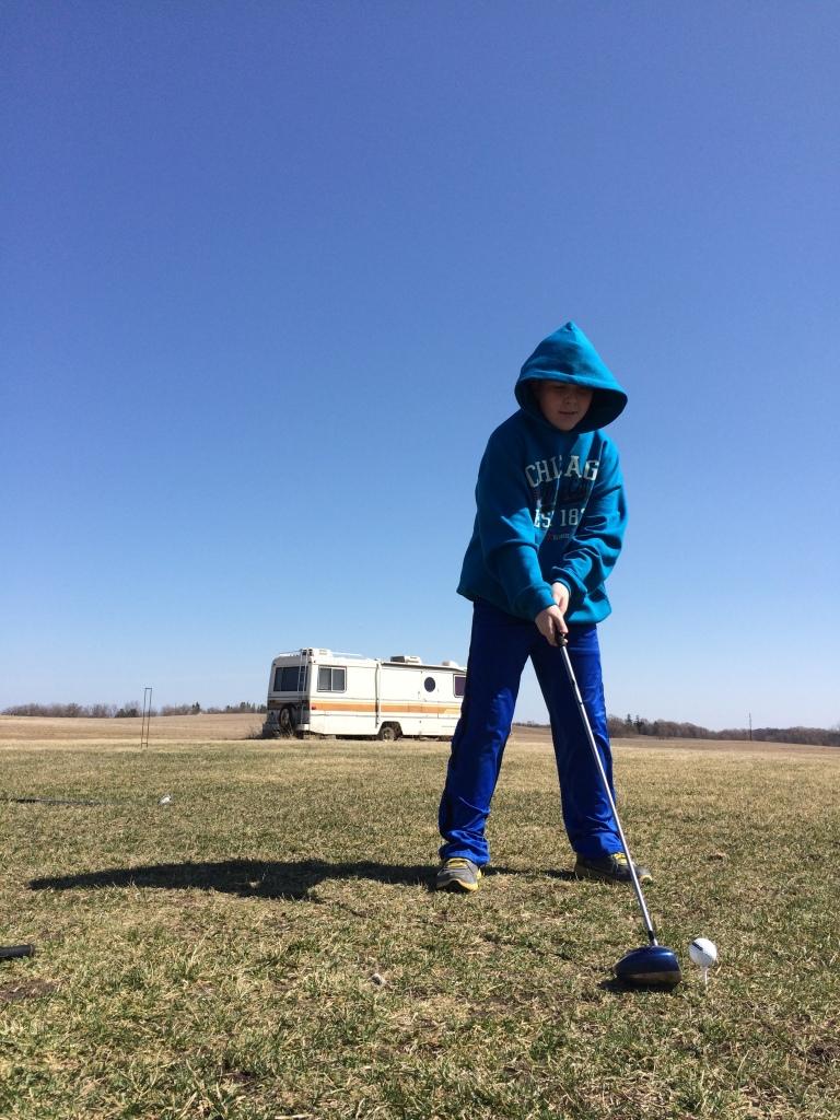 It's was a golfing weekend | via MyOtherMoreExcitingSelf.wordpress.com