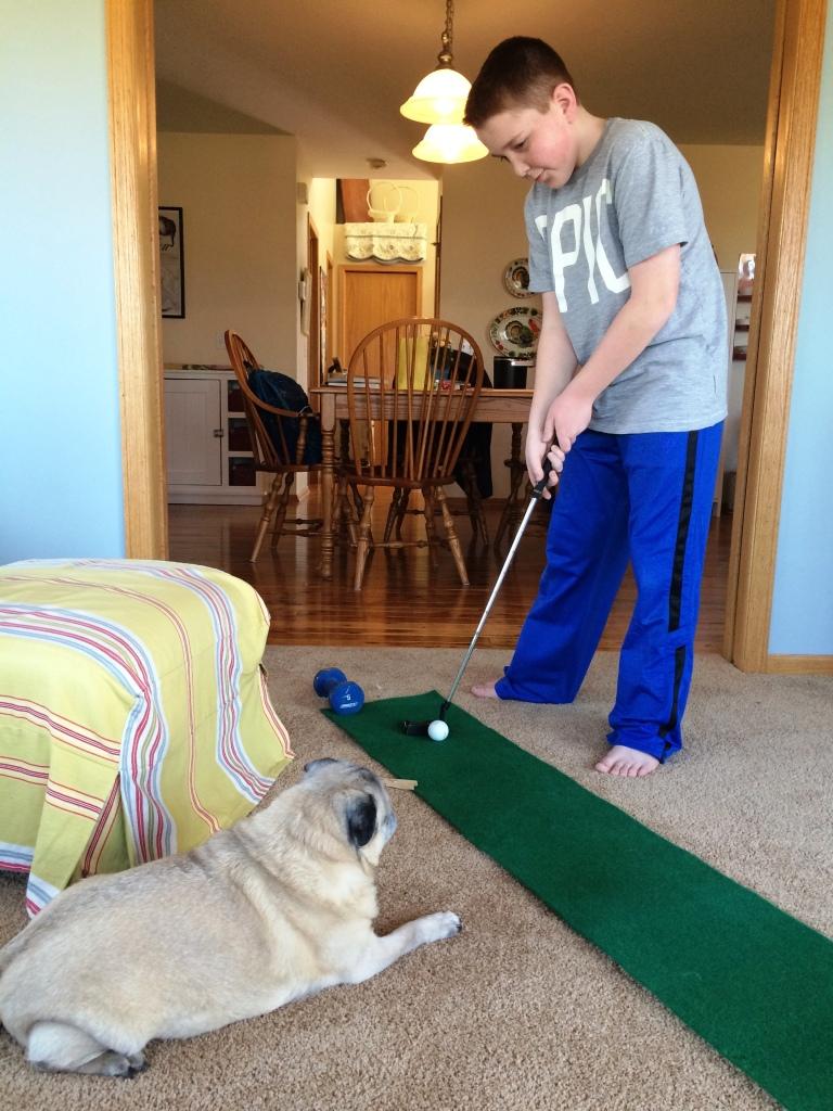 It was a golfing weekend | via MyOtherMoreExcitingSelf.wordpress.com