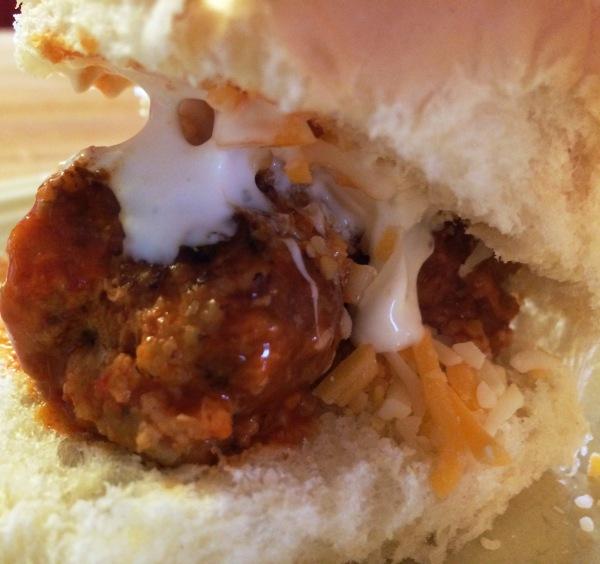 Turkey Tuesday: Buffalo Turkey Meatballs in the Slow Cooker | via MyOtherMoreExcitingSelf.wordpress.com #SwitchToTurkey #JennieO #TurkeyEveryday #SlowCooker
