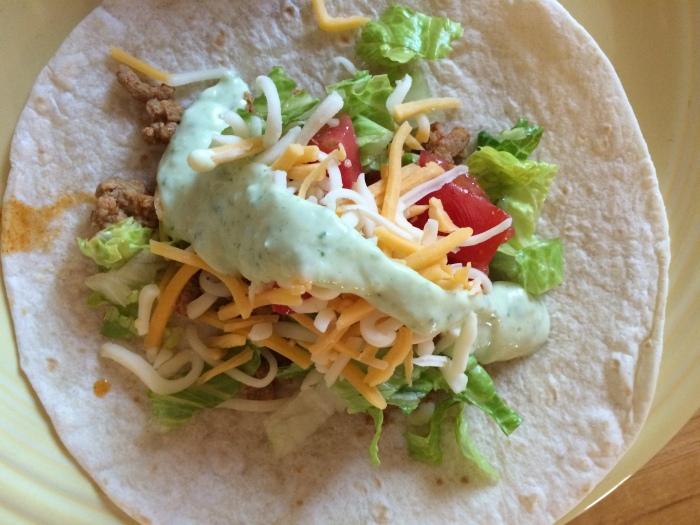 Turkey Tuesday: Turkey Tacos with Cilantro Lime Sauce | via MyOtherMoreExcitingSelf.wordpress.com #SwitchToTurkey #JennieO #TurkeyEveryday