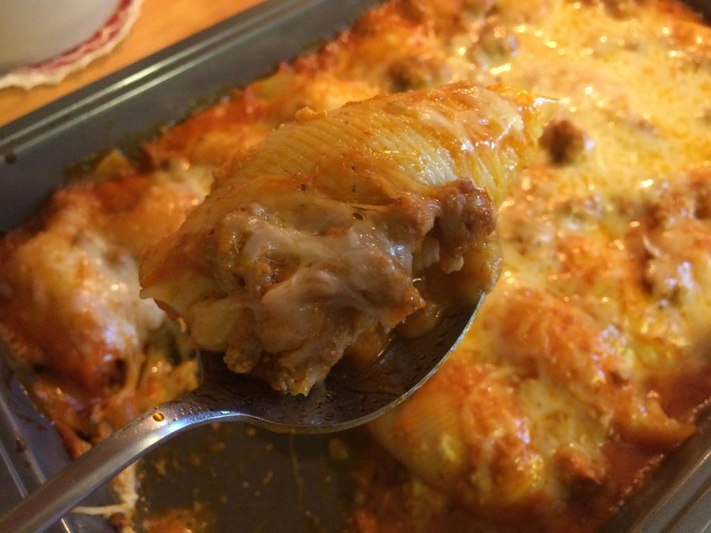 Turkey Tuesday: Cheesy Stuffed Shells with Turkey Italian Sausage   via MyOtherMoreExcitingSelf.wordpress.com