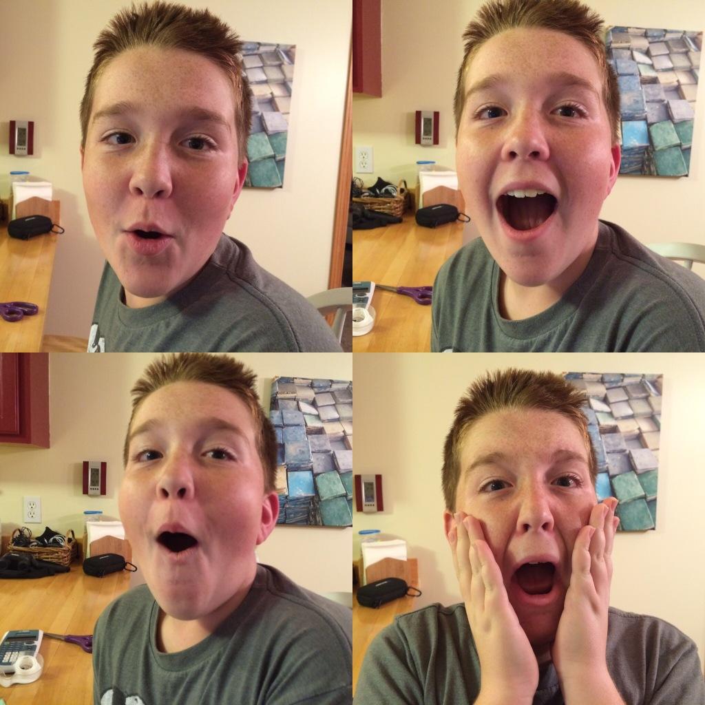 The Many Faces of Joe during 6th grade math homework   via MyOtherMoreExcitingSelf.wordpress.com